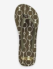 Lauren Ralph Lauren - Shawna Chain-Link Sandal - klip-klapper - deep olive - 3