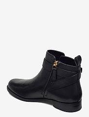 Lauren Ralph Lauren - Bonne Leather Bootie - flade ankelstøvler - black - 2