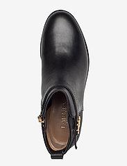 Lauren Ralph Lauren - Bonne Leather Bootie - flade ankelstøvler - black - 3