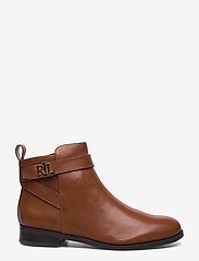 Lauren Ralph Lauren - Bonne Leather Bootie - flade ankelstøvler - deep saddle tan - 1