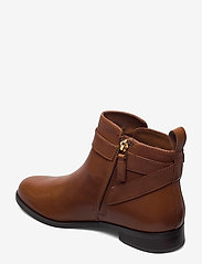 Lauren Ralph Lauren - Bonne Leather Bootie - flade ankelstøvler - deep saddle tan - 2