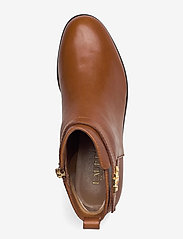 Lauren Ralph Lauren - Bonne Leather Bootie - flade ankelstøvler - deep saddle tan - 3