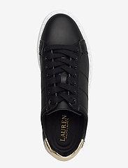 Lauren Ralph Lauren - Angeline II Metallic Sneaker - lave sneakers - black/pale gold - 3