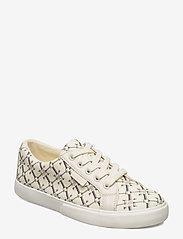 Lauren Ralph Lauren - Jaycee Canvas Sneaker - sneakersy niskie - vanilla heritage - 0