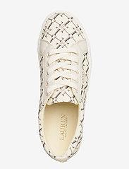 Lauren Ralph Lauren - Jaycee Canvas Sneaker - sneakersy niskie - vanilla heritage - 3