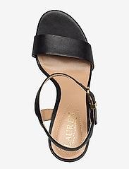 Lauren Ralph Lauren - Gwen Leather Sandal - højhælede sandaler - black - 3