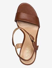 Lauren Ralph Lauren - Gwen Leather Sandal - højhælede sandaler - deep saddle tan - 3