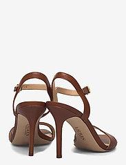 Lauren Ralph Lauren - Gwen Leather Sandal - højhælede sandaler - deep saddle tan - 4