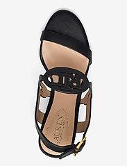Lauren Ralph Lauren - Amilea Burnished Leather Wedge - kilehæl - black - 3