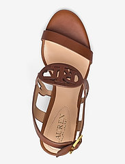Lauren Ralph Lauren - Amilea Burnished Leather Wedge - kilehæl - deep saddle tan - 3