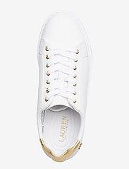 Lauren Ralph Lauren - Angeline II Metallic Sneaker - lave sneakers - white/rlgold - 3