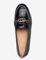 Lauren Ralph Lauren - Averi Embossed Leather Loafer - loafers - black - 3