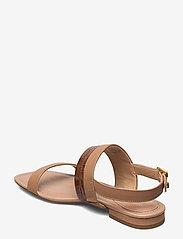 Lauren Ralph Lauren - Kristi Embossed Nappa Leather Sandal - flade sandaler - nude/deep saddle - 2
