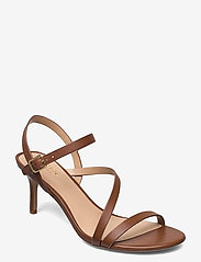 Lauren Ralph Lauren - Landyn Nappa Leather Sandal - brudesko - deep saddle tan - 0