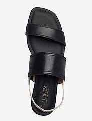 Lauren Ralph Lauren - Karter Burnished Leather Sandal - flade sandaler - black - 3
