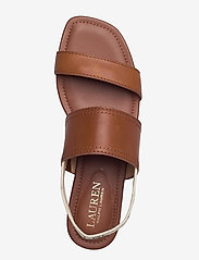 Lauren Ralph Lauren - Karter Burnished Leather Sandal - flade sandaler - deep saddle tan - 3