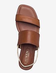 Lauren Ralph Lauren - Karter Burnished Leather Sandal - flade sandaler - deep saddle tan - 3
