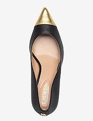 Lauren Ralph Lauren - Lanette Leather Pump - klassiske pumps - black/modern gold - 3