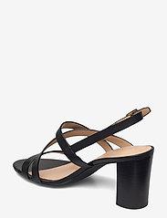 Lauren Ralph Lauren - Mackensie Burnished Leather Sandal - højhælede sandaler - black - 2