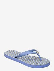 Lauren Ralph Lauren - Shawna Floral Sandal - teenslippers - blue - 0