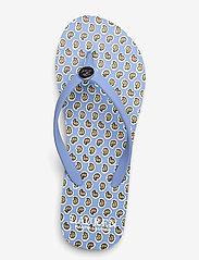 Lauren Ralph Lauren - Shawna Floral Sandal - teenslippers - blue - 3