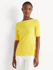 Lauren Ralph Lauren - Cotton-Blend Boatneck Top - t-shirts - athletic gold - 0