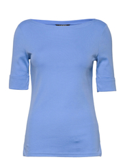 Cotton Boatneck T-Shirt - CABANA BLUE