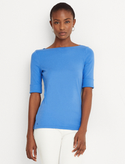 Lauren Ralph Lauren - Cotton Boatneck T-Shirt - t-shirts - captain blue - 0