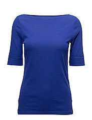 Cotton Boatneck T-Shirt - EMPRESS BLUE