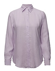 Linen Button-Down Shirt - FRESH ORCHID