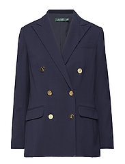 Stretch Wool Blazer - RL NAVY