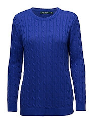 Monogram Cable-Knit Sweater - EMPRESS BLUE