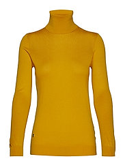 Ribbed Silk-Blend Turtleneck - ARTISAN GOLD