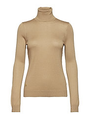 Ribbed Silk-Blend Turtleneck - CLASSIC CAMEL