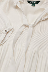 Lauren Ralph Lauren - Georgette Tie-Neck Top - blouses à manches longues - mascarpone cream - 4