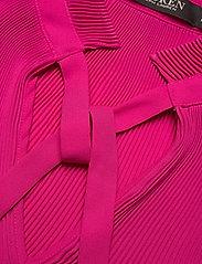 Lauren Ralph Lauren - Georgette Tie-Neck Top - blouses à manches longues - nouveau bright pi - 3