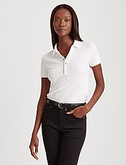 Lauren Ralph Lauren - Piqué Polo Shirt - polohemden - white - 0