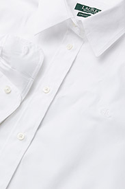 Lauren Ralph Lauren - No-Iron Button-Down Shirt - langærmede skjorter - white - 3