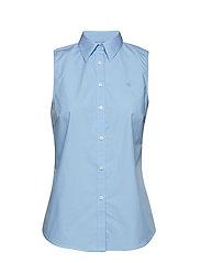 No-Iron Sleeveless Shirt - BLUE