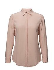 Silk Crepe Button-Down Shirt - DEMURE PINK