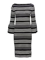 Bell Sleeve Jersey Dress - POLO BLACK/MASCAR