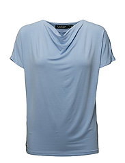 STR CHIC VIS JRSY-ELBOW SLV TOP - LIGHT SKY BLUE