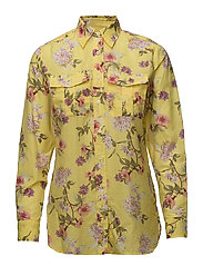 Floral Button-Down Shirt - YELLOW MULTI