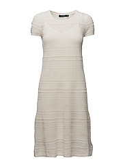 COTTON NYLON-S/S CN DRESS - MASCARPONE CREAM