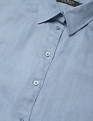 Lauren Ralph Lauren - Linen Short-Sleeve Shirt - kortærmede skjorter - dust blue - 2