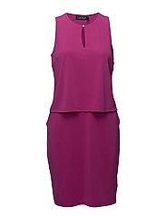 Front Keyhole Jersey Dress - SPRING BEGONIA