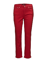 Straight Mid-Rise Jean - LIPSTICK RED WASH