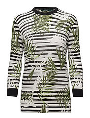 Print Cotton-Linen Sweater - MULTI