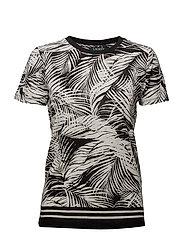 96fbbfbe73bc Tropical-Print Linen-Blend Top - BLACK/MASCARPONE. 40%. Lauren Ralph Lauren