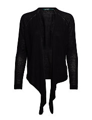 Tie-Front Cardigan - POLO BLACK